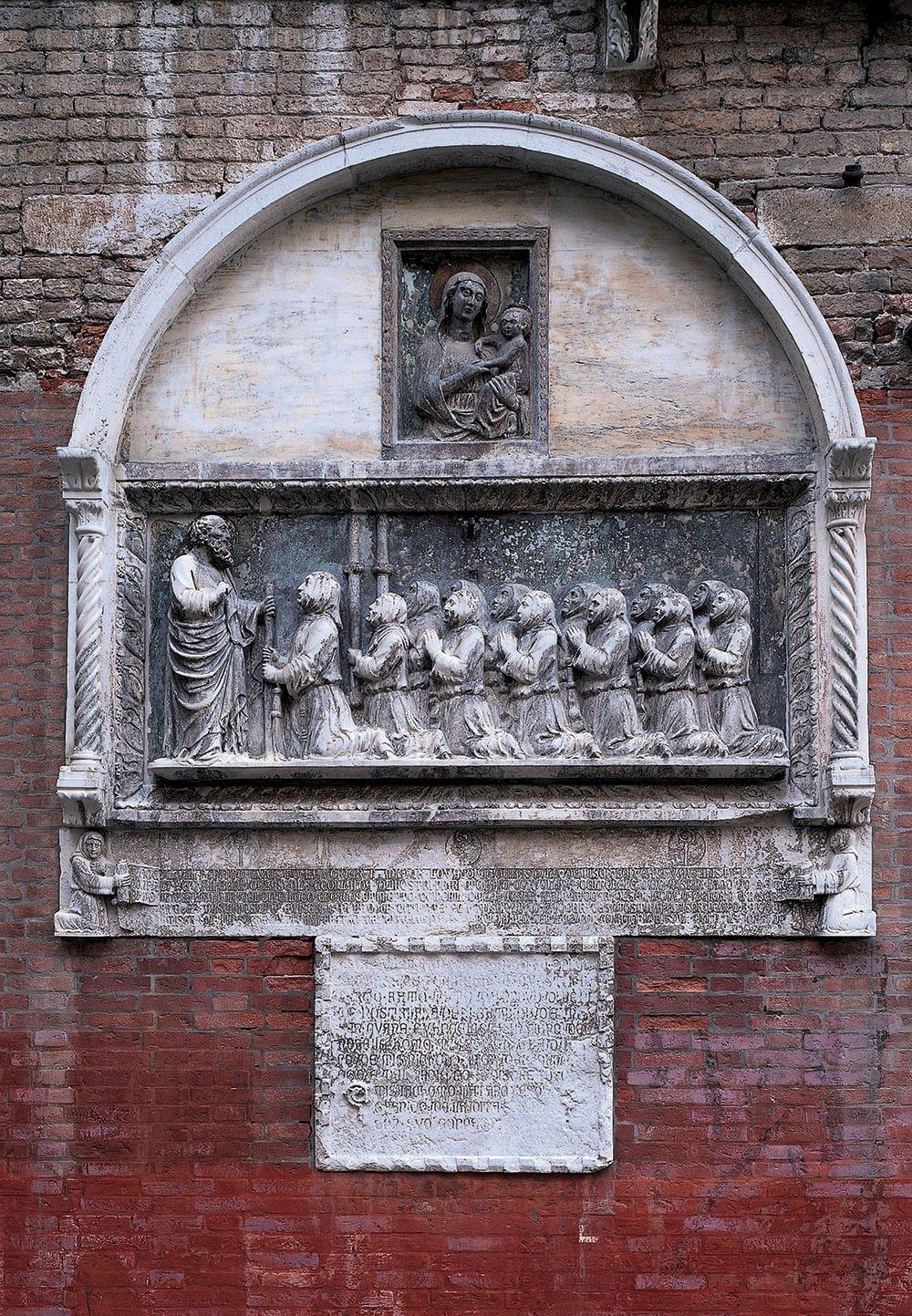 La Scuola dei Battuti, bassorilievo 1349