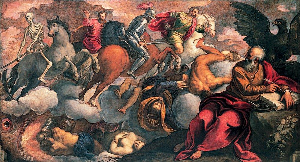 I quattro cavalieri dell'Apocalisse, 1581-1582, Jacopo Palma il Giovane